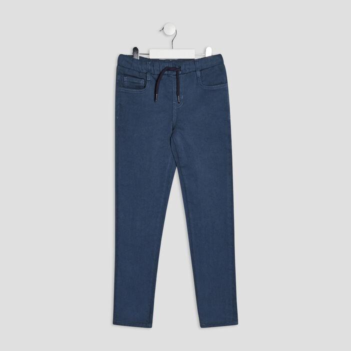 Pantalon jegging à coulisse garçon bleu gris