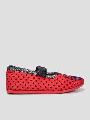 Chaussons Miraculous Ladybug rouge fille