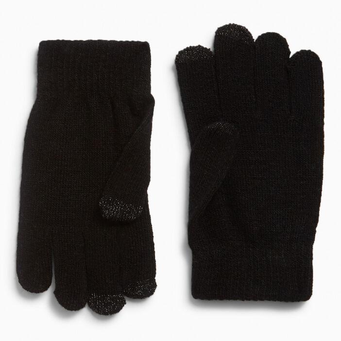 gants magiques tactiles femme noir