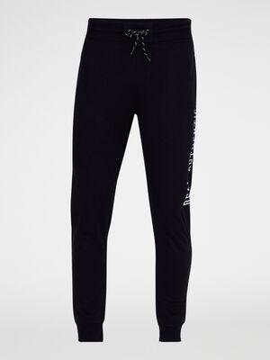 Pantalon de jogging droit noir homme