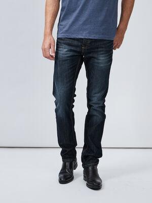 Jeans regular effet delave denim stone homme