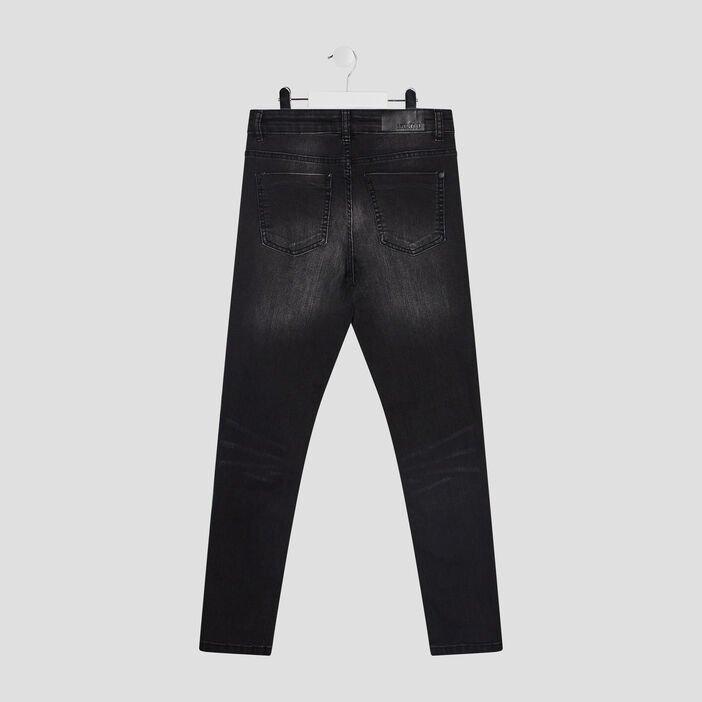 Jeans droit taille standard garçon noir
