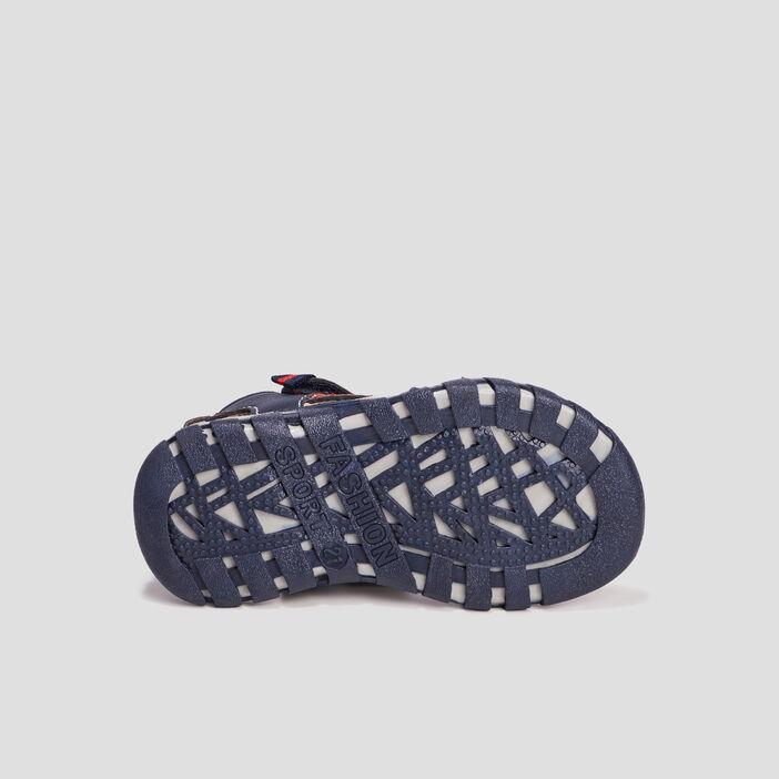 Sandales à scratchs bébé garçon bleu