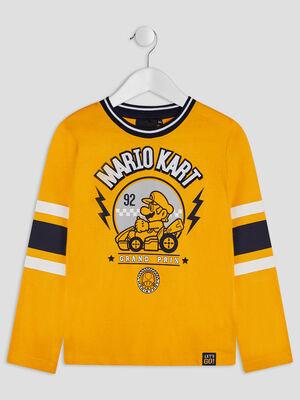 T shirt manches courtes Mario jaune moutarde garcon