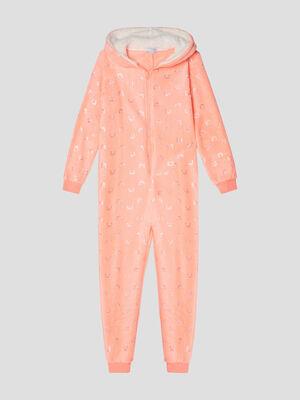 Combinaison pyjama rose fille