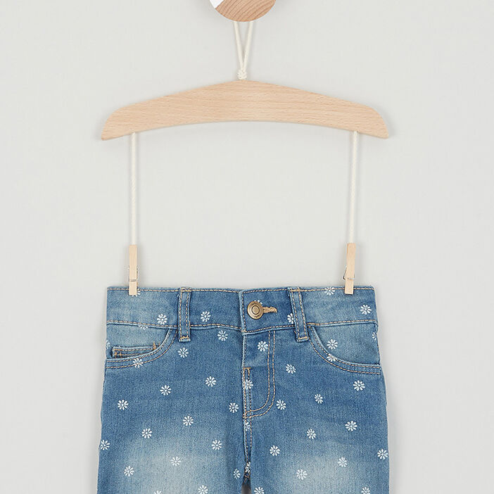 Short, Bermuda fille denim double stone
