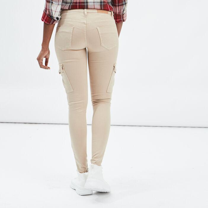 Pantalon skinny Creeks femme beige