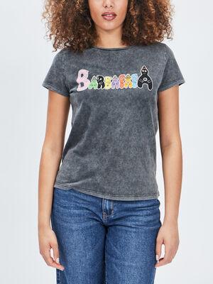 T shirt Barbapapa noir femme