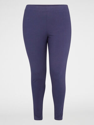 Legging long coton majoritaire bleu marine femme
