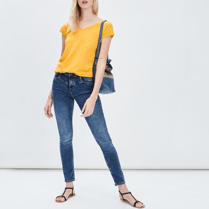 Jeans slim Creeks femme denim double stone