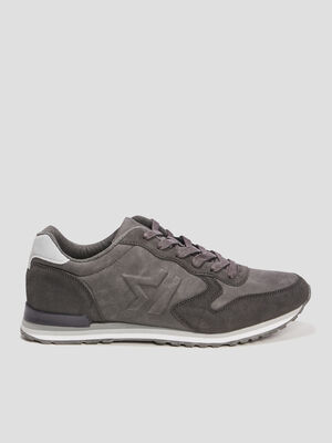 Runnings a lacets gris homme