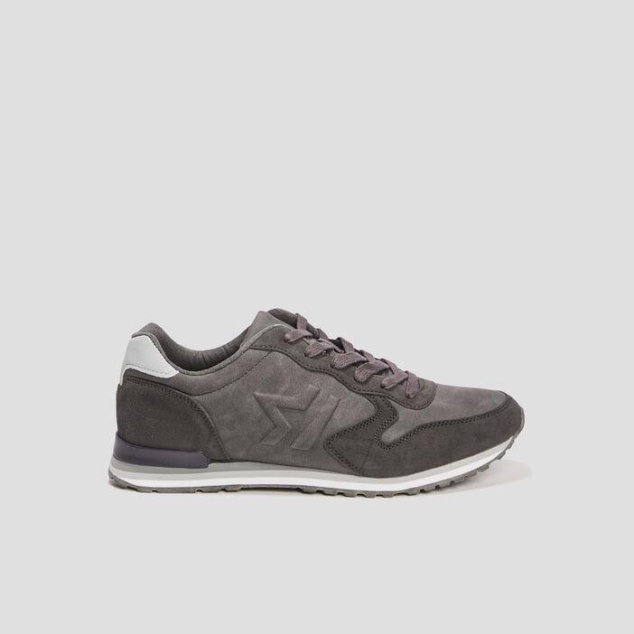 Runnings à lacets homme gris