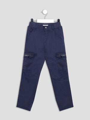Pantalon droit bleu marine garcon