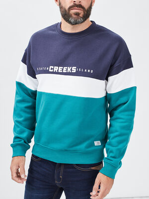 Sweat a col rond Creeks vert menthe homme