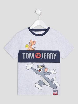 T shirt Tom et Jerry gris garcon