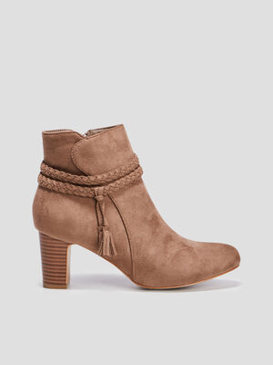 Bottines suedees taupe femme