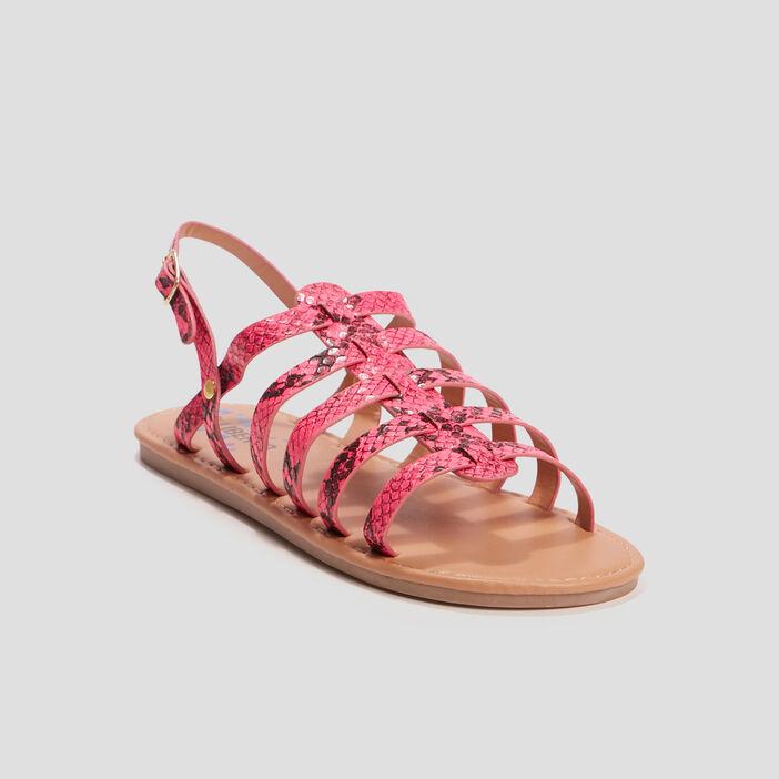Sandales texturées Liberto fille rose