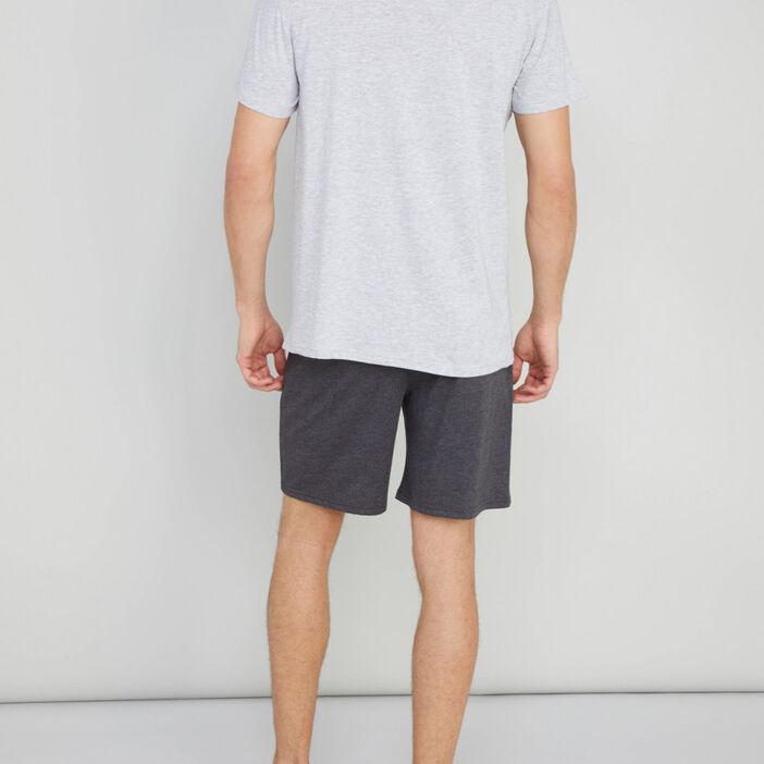 Pyjama avec imprimé coton majoritaire homme gris