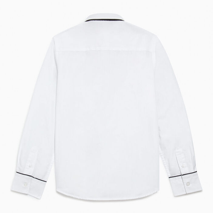 Chemise avec cravate garçon blanc