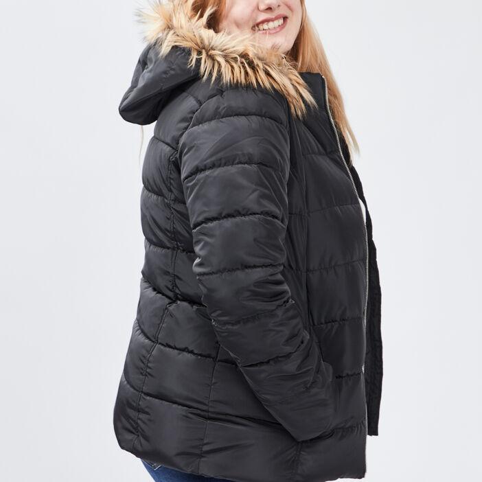 Doudoune droite grande taille femme grande taille noir
