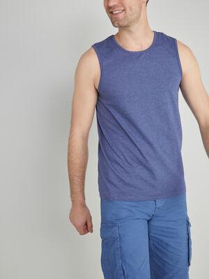 Debardeur bretelles larges bleu homme