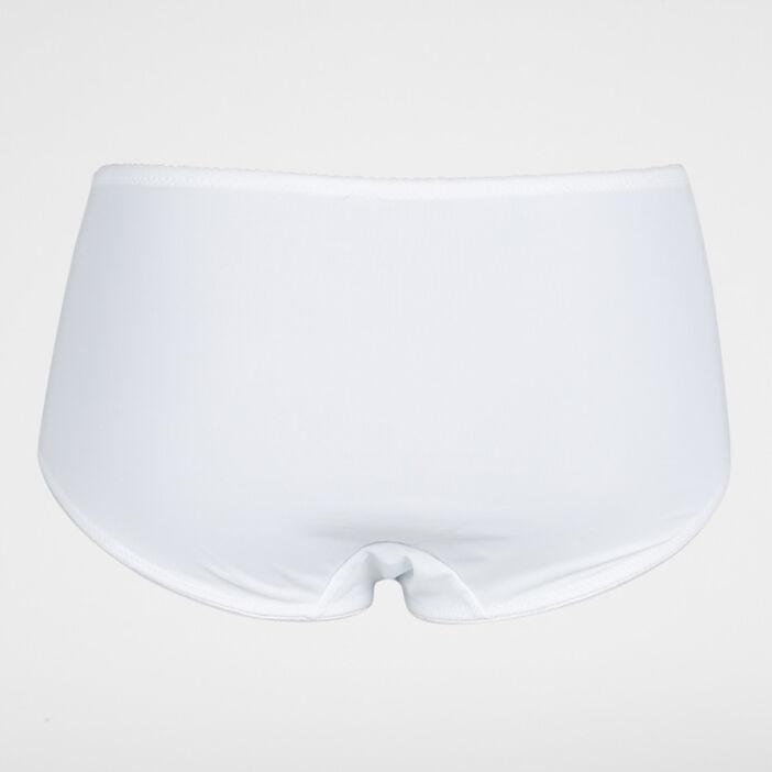 Culotte effet gainant microfibre femme blanc