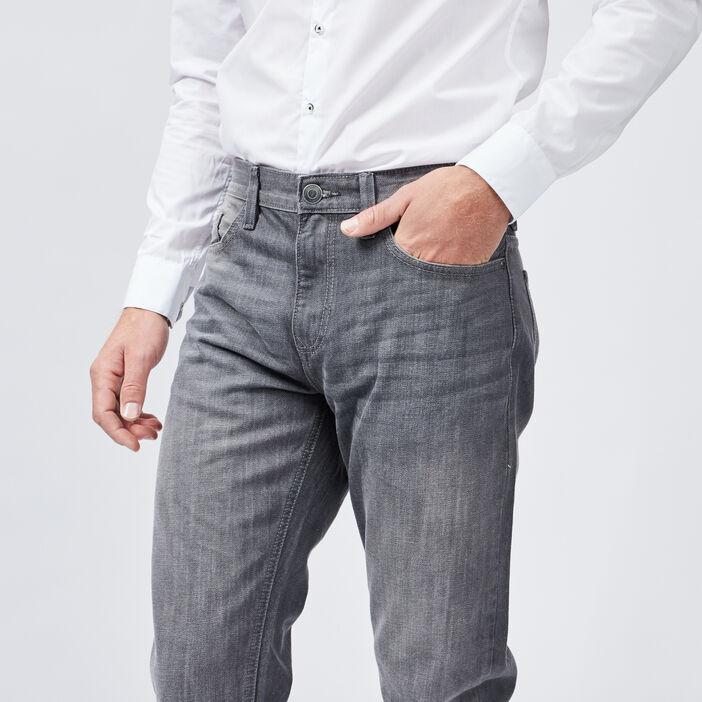 Jeans regular homme gris