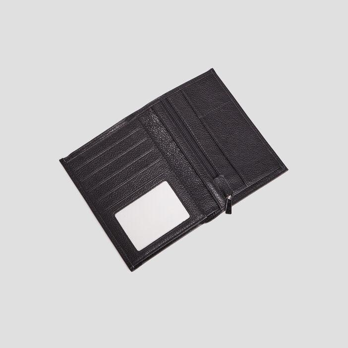 Portefeuille en cuir homme noir