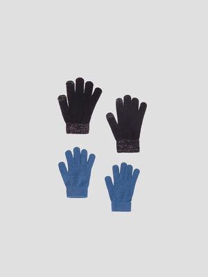 Lot 2 paires de gants noir femme