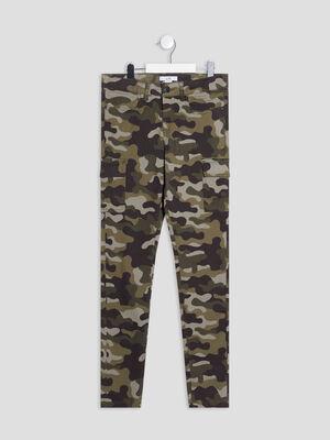 Pantalon slim vert kaki fille
