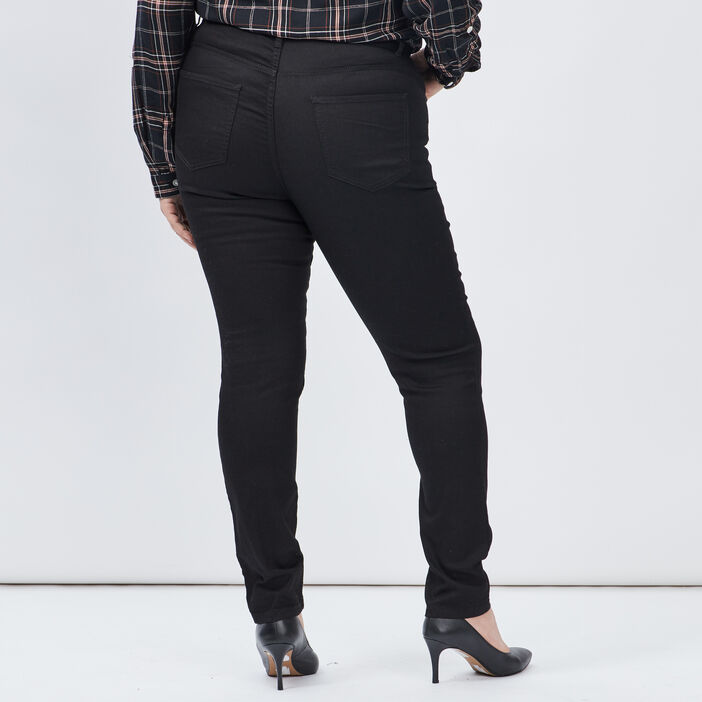 Pantalon slim grande taille femme grande taille noir