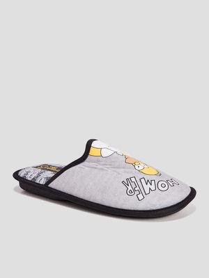 Chaussons mules Les Simpson gris homme