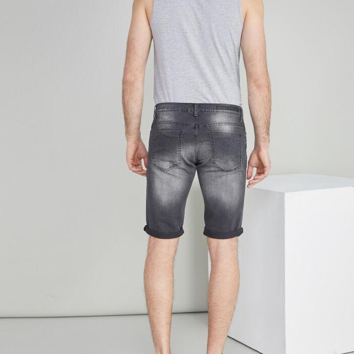 Bermuda 5 poches coton majoritaire homme noir