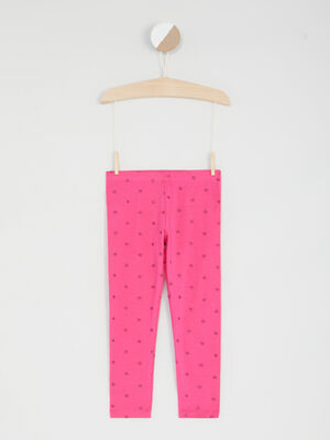 Legging imprime rose fushia fille