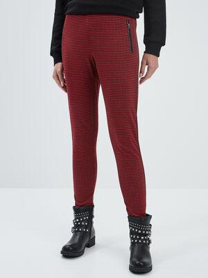 Pantalon legging rouge femme