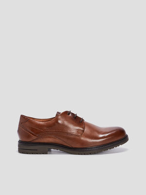 Derbies en cuir Trappeur marron homme