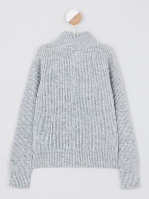 Pull gris fille