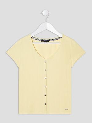 T shirt cotele Liberto jaune fille