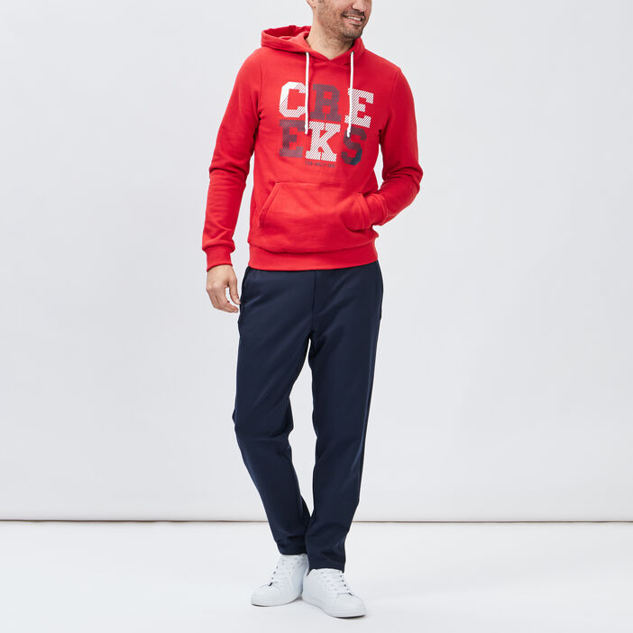 Sweat à capuche Creeks homme rouge