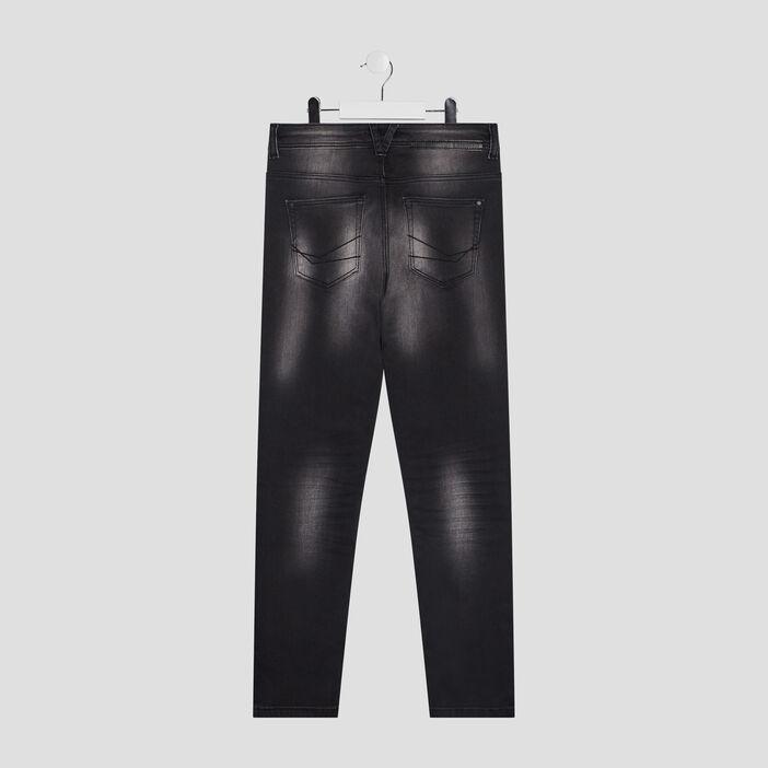 Jeans skinny effet délavé garçon noir