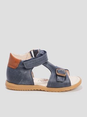 Sandales en cuir bleu bebeg