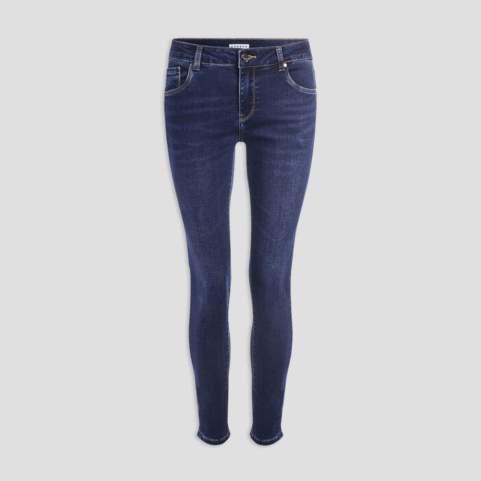 Jeans skinny taille basse femme denim stone