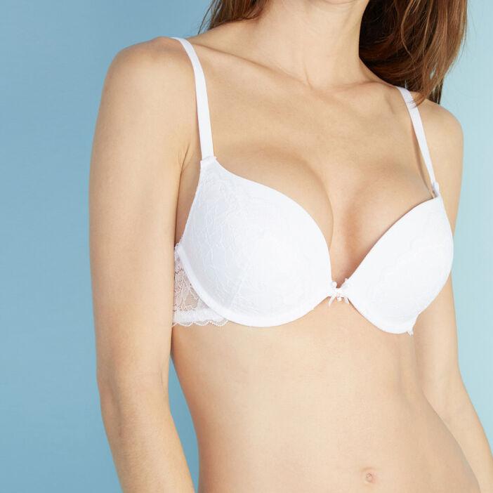 Soutien-gorge dentelle maxi push-up Amor femme blanc