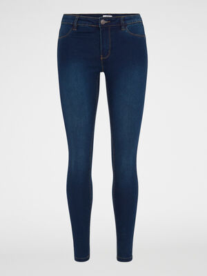 Jean skinny 5 poches uni denim brut femme