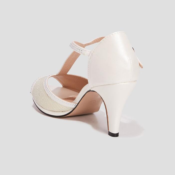 Sandales à talons aiguilles femme blanc