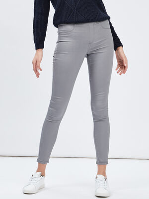 Pantalon jegging gris femme