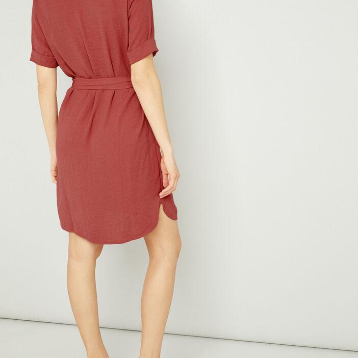 Robe femme rose framboise