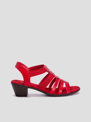 Sandales a talon Walking rouge femme