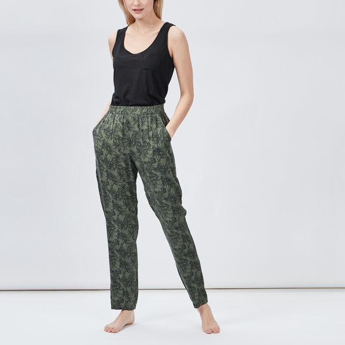 Pantalon de pyjama femme vert kaki