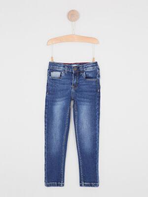 Jeans skinny effet use denim stone garcon